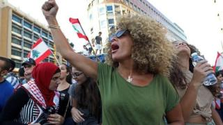 المرأة اللبنانية، لبنان، احتجاجات لبنان