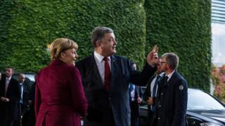 Президент Украины Петр Порошенко и канцлер Германии Ангела Меркель в Берлине