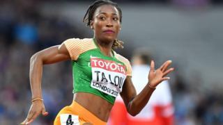 Marie-Josée Talou le août pour le 200 mètres dames