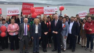 Labour celebrations in Mumbles