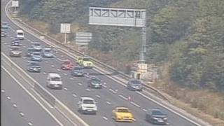 Car abandoned on M1