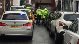 Police at scene in Winchester
