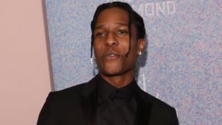 ASAP Rocky at an award ceremony