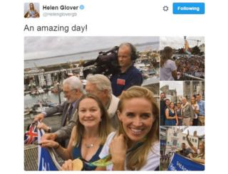 Tweet from Helen Glover