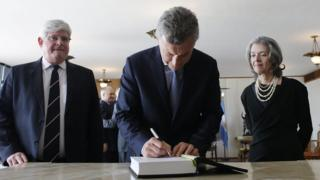 Rodrigo Janot, Mauricio Macri e Cármen Lúcia