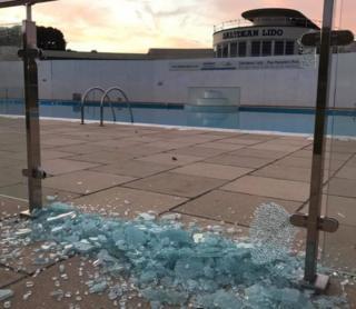 Vandalism at Saltdean Lido