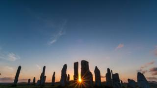 photograph of the Callanish Stone Circl