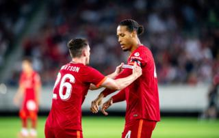 Virgil van Dijk returns to Liverpool side after injury