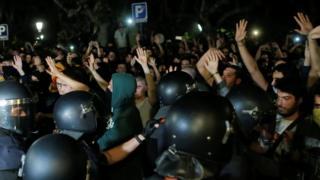 Demonstranti i policija