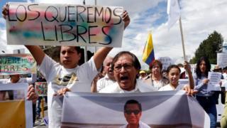 Familiares de los empleados de El Comercio que fueron asesinados