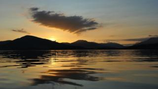 Sunset over Loch Lomond