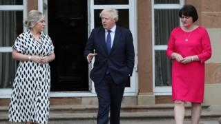 Boris Johnson is meeting Arlene Foster and Michelle O'Neill