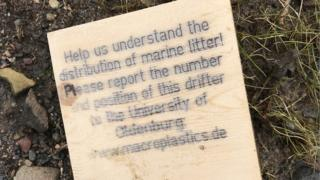 Wooden drifter found at Budle Bay