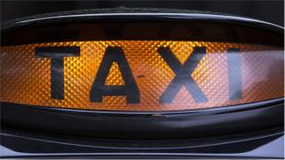 Taxi sign - generic image