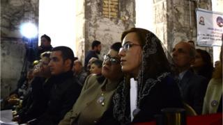Musul'daki Saint Paul kilisesinde düzenlenen tören için yoğun güvenlik önlemleri alındı