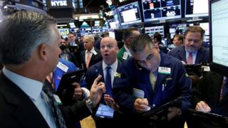 Traders on New York Stock Exchange floor