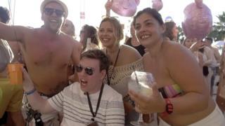 Alex partying at Ocean Beach