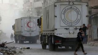 Magari ya misaada nchini Syria