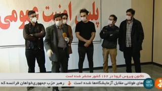 כתב הטלוויזיה הממלכתית האיראנית מדבר עם סטודנטים שנעצרו בגלל סרטוני חציל