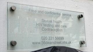 Sign outside the clinic