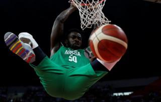 "Basketball - FIBA World Cup - Classification Round 17-32 - Group M - China v Nigeria - Guangzhou Gymnasium, Guangzhou, China - September 8, 2019 Nigeria""s Ekpe Udoh in action"