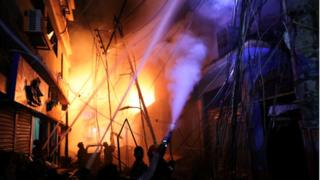 Fire blaze in Dhaka