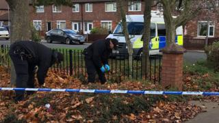 police search at scene