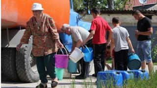 Армянськ, АРК, травень 2014 року, одразу ж після припинення постачання води до Криму