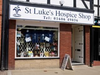 St Luke's hospice shop, Northwich, Cheshire
