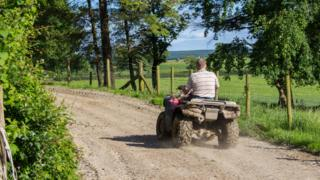 Quad bike farmer