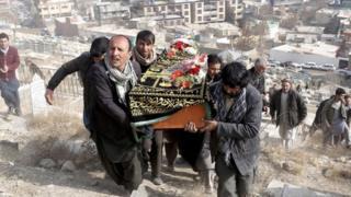 جنازات ضحايا هجوم السبت في كابول