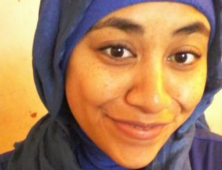 Kirsty Powell wearing a hijab