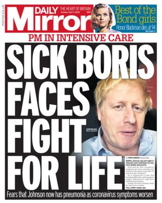 Daily Mirror 7 April 2020