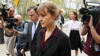Smallville actress Allison Mack in New York