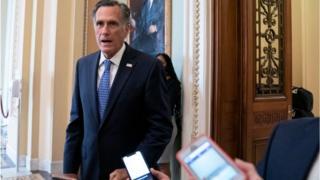 Mr Romney in the Senate
