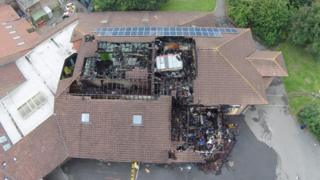 An aerial view of Shinewater Primary School