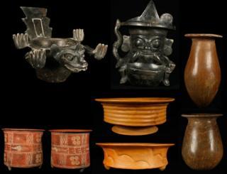 Objetos recuperados en Teotihuacán