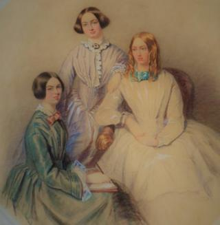 Picture which is thought to be a previously unknown portrait of the Bronte sisters
