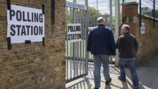 Polling station in Greenwich, London, 23 May 19