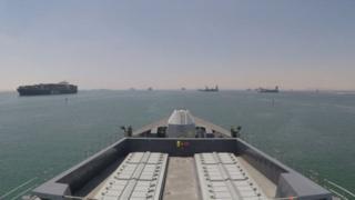 Meli ya wanajeshi wa Uingereza HMS Duncan yawasili katika mkondo wa bahari wa Hormuz