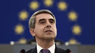Bulgarian President Rosen Plevneliev delivers a speech during the plenary session of the European Parliament in Strasbourg, eastern France, on June 8, 2016.