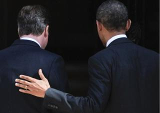 Barack Obama and David Cameron in Downing St