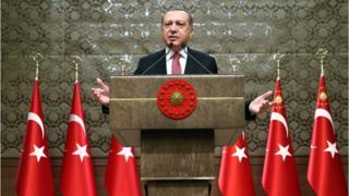 الرئيس التركي رجب طيب الدين اردوغان