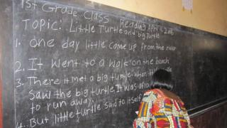 Darasa la shule moja nchini Liberia