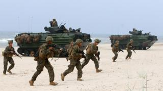 US troops on exercise