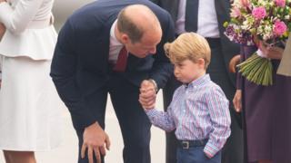 Уильям с сыном - принцем Джорджем