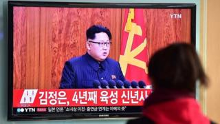 북한 김정은 노동당 위원장의 모습