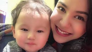 Nadila Wumaie with her son Lutfy, who will soon turn two