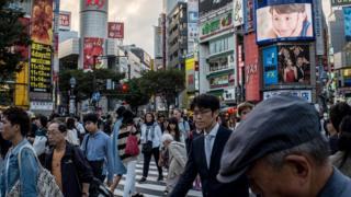 Japanese workers in Tokyo
