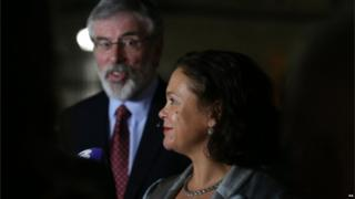 Mary Lou McDonald. with Gerry Adams